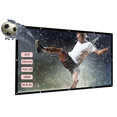 H150 150'' Portable Projector Screen HD 16:9 White 150 Inch Diagonal Z8P1