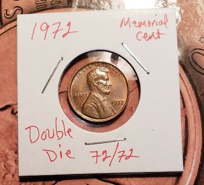 1972 1C Doubled Die Obverse BN Lincoln Cent