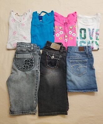 Girls Size 12 Lot Of 7 Spring/summer Pieces, Justice, Aeropostale, Ymi, Mudd