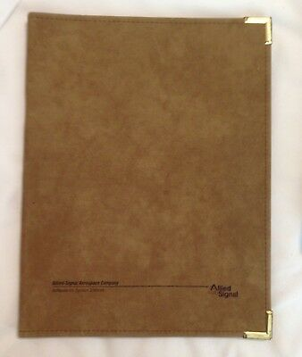 Vintage Hazel Usa Binder For  Allied-Signal Aerospace 8 1/2 By 11 Note Pads