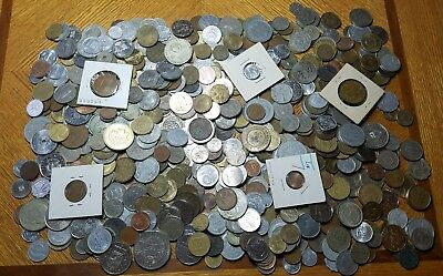 Large FIVE 5 Full Pounds Lot of  World Foreign Coins 5 LB *