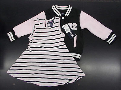 Toddler Girls Limited Too $42 2pc Letter Jacket & Dress Set Size 2T - 3T