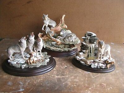 Country Artists Wolves Lot Of 3 -