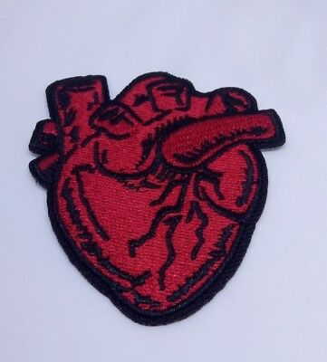 X-Ray Anatomical Heart Iron/Sew on Patch Embroidery Horror Gothic Punk Occult