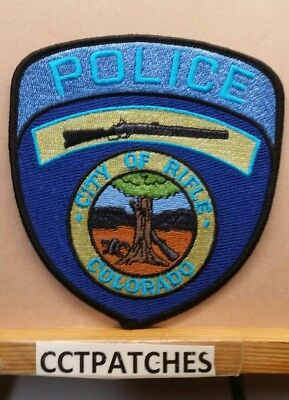 City Of Rifle, Colorado Police Shoulder Patch Co