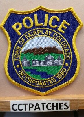Town Of Fairplay, Colorado Police Shoulder Patch Co