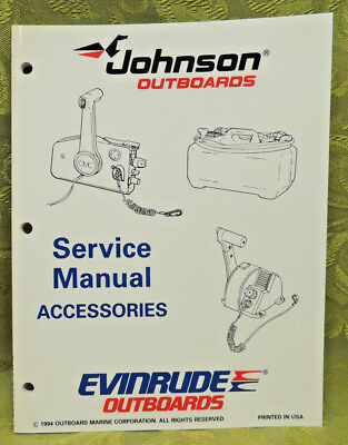 1995 Johnson Outboard Service Manual Accessories Evinrude