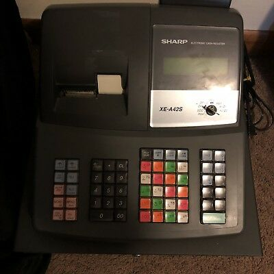 SHARP XE-A42S - BEST - ELECTRONIC P.O.S. RETAIL STORE CASH REGISTER ~ Near Mint