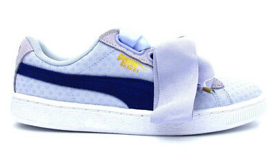 the latest d36dd 1ab99 PUMA BASKET HEART Denim Wn's Baby Blue Blue White 363371-02