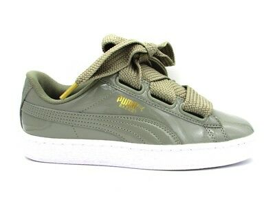 promo code 3cfff 24caf PUMA BASKET HEART Patent Wn's Sneakers Grey-Glossy White 363073-12