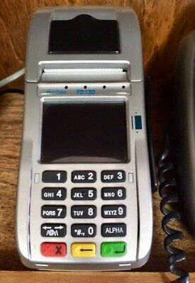 First Data FD130 Terminal with EMV / NFC/ WiFi 84 Roll Paper Credit Card Machine