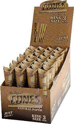 32 Packs of 6 Ea. The Original Rolling Paper Cones Unbleached Pre-Rolled 1 1/4