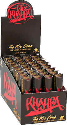 32 Packs of 3 Ea. Wiz Khalifa Rolling Paper Cones Natural Pre-Rolled King's