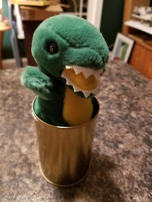 Rare Canned Critters T-Rex Stuffed Animal Dinosaur In A Can