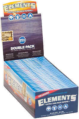 25 Booklets Elements Ultra Thin Rice Cigarette Rolling Papers Single Wide