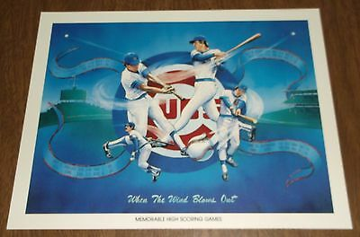 1984 Unocal Chicago Cubs Illustration Print When The Wind Blows Out High Scores