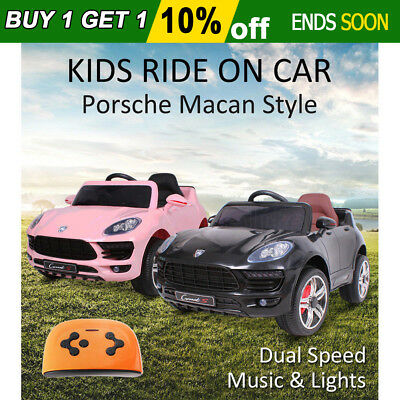 2018 Kids Electric Ride On Car Porsche Macan Style Children Battery Toy Remote