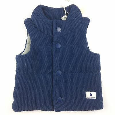 Baby boys size 000, Country Road, wadded cotton knit winter vest /jacket, BNWT