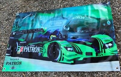 Tequila Patron poster bottle banner green race car formula one bar sign A53