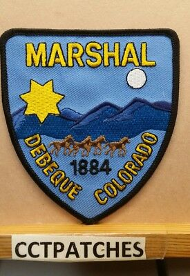 Debeque, Colorado Marshal (Police) Shoulder Patch Co