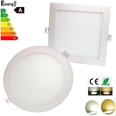 Dimmable Epistar Recessed LED Panel Light 3W 6W 9W 12W 15W 18W Ceiling DownLight
