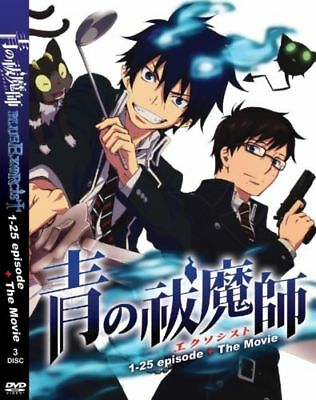 DVD Blue Exorcist Episode 1-25 + The Movie English Dubbed With Subtitle Anime