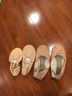 Ballet shoes pre worn but will be clean when sold and there are two pairs of one