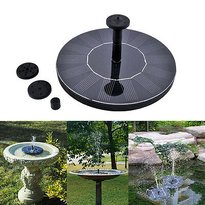 Solar Powered Fountain Water Pump Floating Garden Pond Pool Fish Tank Bird Baths