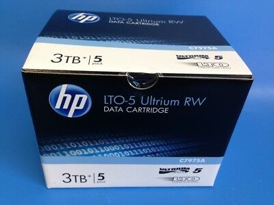 Hp Box Of 5 Lto-5 Ultrium 3Tb Rw Data Cartridge C7975A