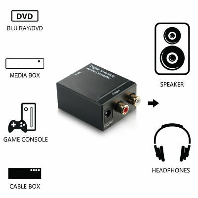 Optical Coax Toslink Digital to Analog Converter Audio Adapter RCA L/R Stereo
