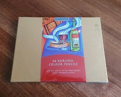 Professional Karisma Colour Pencils - unopened and cellophane sealed.