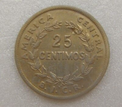 Costa Rica Coin 25 Cents 1935 23mm