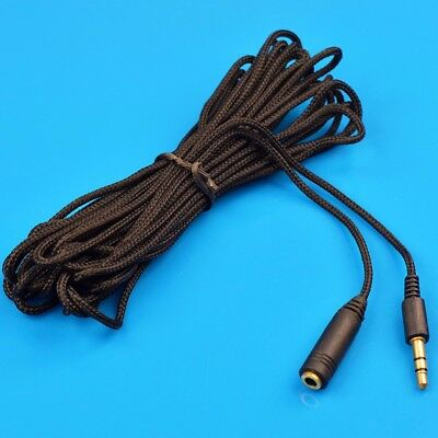 1.5M/5M Long AUX Cable 3.5mm Stereo Audio Extension Male to Female Auxiliary Cor