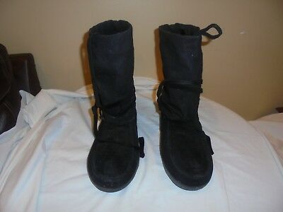 Steger-Mukluks-Mens-Size-12-Traditional-Short-black Made in USA