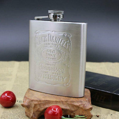 Stainless Steel 7oz Whiskey Alcohol Pocket Flask with Portable Funnel Container