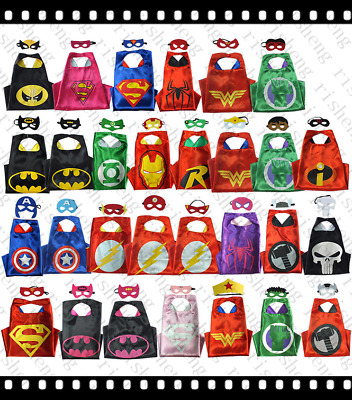 Superhero Cape for kids favors birthday party and ideas (1 cape+1 mask)