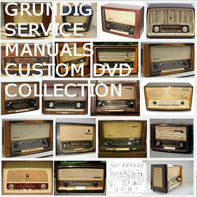 GRUNDIG RADIO SERVICE Manuals Schematics Owners Huge Mega Collection PDF  DVD !!