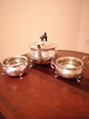 hallmarked teapot set could be epns