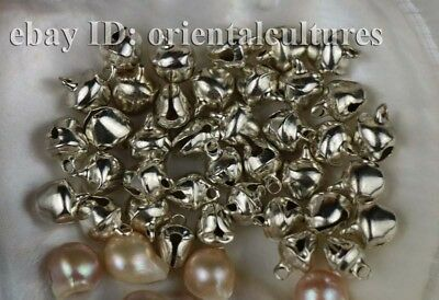 Tribal exotic chinese handmade miao silver small bells  10pairs