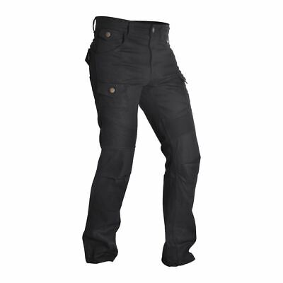 Oxford SP-J4 Reinforced Mens Aramid Cargo Motorcycle Jeans Bike Trousers Black