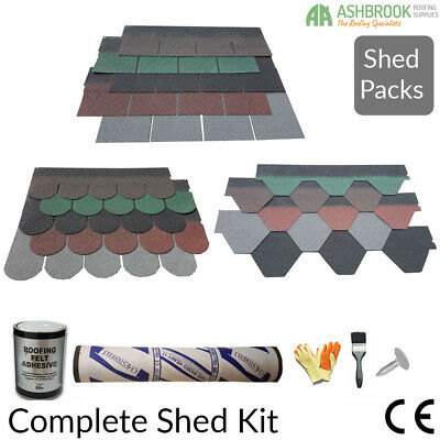 Roofing Felt Shingles | Shed Roof Felt Tiles | Shed Packs | 3 Shapes