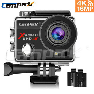 Campark ACT74 Action Sports Camera 4K 16MP WiFi FHD 1080P Waterproof Helmet Cam