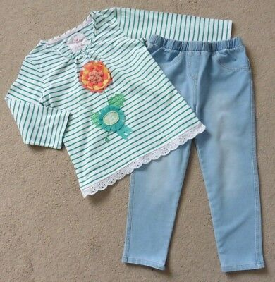 Girls Roche Little Rocha Top + Pair Of Next Stretch Denim Jeans, Age 5- 6 Years