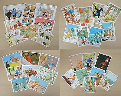 New Collectable Set Of 8 TinTin Different Image Postcards 5 Designs Gift Fun