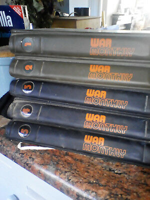 WAR MONTHLY Magazine Issues 1 to 50  with Official Binders - Collectable