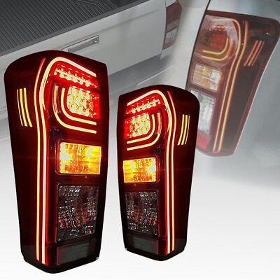 Tail Light Rear Lamp Led Clear Lens Pair For Isuzu D-Max Dmax 2012 14 15 17 18