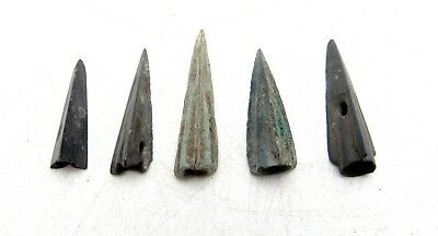 Lot Of 4 Ancient Scythian Bronze Arrow Heads - Ancient Historical Artifac - C798