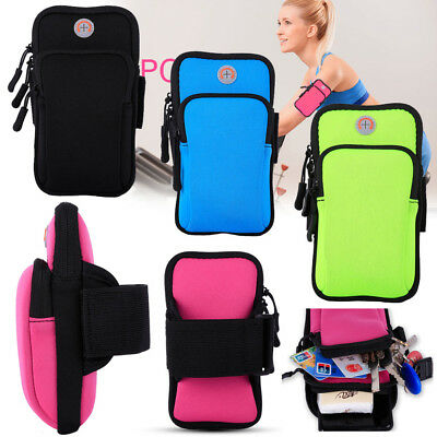 AU For Samsung Galaxy S9 A8 Plus Sports Running Riding Arm Band Bag Case Cover