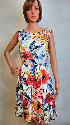 db1df50c860a Anthropologie Donna Morgan Sz 12 Colorful Floral Empire Fit Flare Shift  Dress
