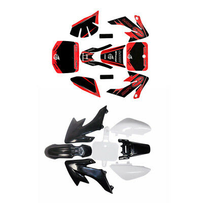 Honda CRF50 Plastics + Red & Black Sticker kit For SSR SDG Pit Dirtbike Motobike